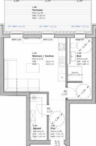 1-Raum-Wohnung Teterow