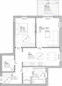 2-Raum-Wohnung in Teterow