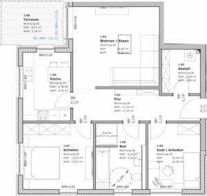 3-Raum-Wohnung in Teterow