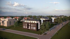"""Ansicht Wohngebiet """"Mühlenblick"""" Wohngebiet MFH"""